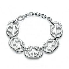 Fine Bracelets without Stones Gucci Bracelet, Gucci Jewelry, Fashion Jewelry, Women Jewelry, Jewellery Earrings, Sterling Silver Bracelets, Silver Earrings, Statement Jewelry, Custom Jewelry