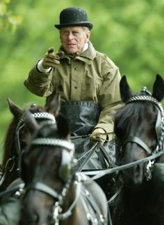 telegraph:  Sporty Royals:  Duke of Edinburgh competes in the driven dressage event at the Royal Windsor Horse Show