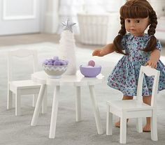 Pottery Barn Kids - Doll Flower Table & Chairs  Hannah would LOVE this!!