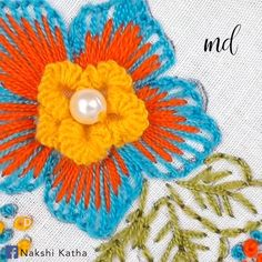 The art of hand embroidery is simply ah-mazing! Hand Embroidery Patterns Flowers, Hand Embroidery Videos, Embroidery Stitches Tutorial, Embroidery Flowers Pattern, Hand Embroidery Designs, Crewel Embroidery, Creative Embroidery, Simple Embroidery, Mexican Embroidery