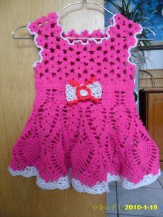 Flor de crochê vestido de princesa (de primeira linha com tutorial) - os pequenos grãos de ouro - o feijão Xiaojin blogue