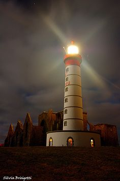 Lighthouses of Iroise. Phare de la Pointe Saint Mathieu. Finistere     Brittany