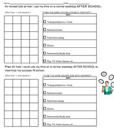 Time Management Form, use for student led conferences Student Led Conferences, After School, Time Management, Open House, Slc, Teaching, How To Plan, Education, Gentleman