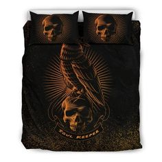 Are you looking for unique bedding sets for adults? We got you covered. All of our bedding sets have unique designs such as gothic bedding sets, skull bedding sets and more. Our bedding sets are super-soft, comfortable, and perfect for any season. Each bedding set comes with a duvet cover and 2 pillow covers. Blue Bedding Sets, Queen Bedding Sets, Gothic Bed, Japanese Warrior, Pillow Inserts, Unique Bedding, Comforters, Pillow Covers, Skull