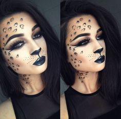 Wild cat halloween makeup