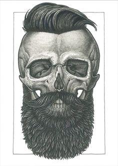 Skull beards