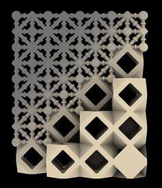 3d printed sand & binder mashrabiyas