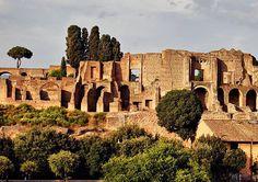 shiningjasmin:shiningjasminArchaeological finds on Mount Palatine, Rome, Italy.  Roman emperors Augustus, Tiberius and Domitian built their palaces on the Mount Palatine.