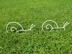 Escargot blanc en fer forgé pour décoration de jardin n° 4 et 5 : Accessoires de maison par peps-et-top
