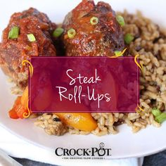 The perfect weeknight dinner recipe! These Slow Cooker Steak Roll Ups can be prepped the day before so all you have to do is place them in your slow cooker and wait! Slow Cooker Steak, Beef Steak, Slow Cooker Recipes, Crockpot Recipes, Steak Roll Ups, Crock Pot, Food To Make, Dinner, Cooking