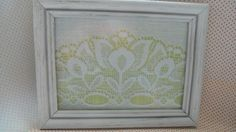 Tulip Vintage Lace Frame by fiadesigns on Etsy, $13.00