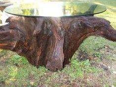 tree stump table