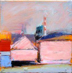 Richard Diebenkorn, Bridgeport Pink House on ArtStack #richard-diebenkorn #art