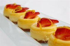 Tiny Baked Vanilla Cheesecakes