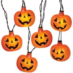 8 flashing led pumpkin halloween string lights with sound battery operated