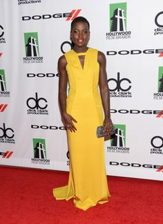 Fabulously Spotted: Lupita Nyong'o Wearing J Mendel - 17th Annual Hollywood Film Awards - http://www.becauseiamfabulous.com/2013/10/lupita-nyongo-wearing-j-mendel-17th-annual-hollywood-film-awards/