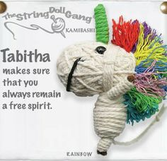 Unicorn rainbow voodoo doll key chain - Great gift! Just $9.99! (Check out the derby girl ones!)