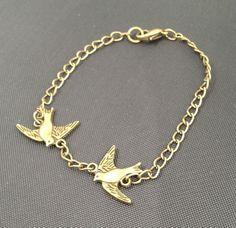 Copper Birds Bracelet  £3.50
