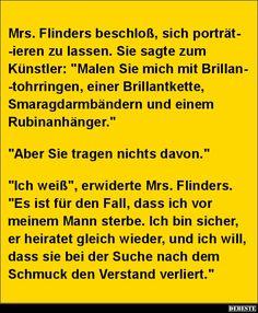 Mrs. Flinders beschloß, sich porträtieren zu lassen.. | Lustige Bilder, Sprüche, Witze, echt lustig