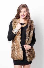 Fur+By+Me+Vest,+Brown,+LG