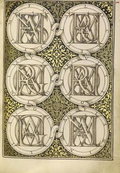 [folio 90r] Joris Hoefnagel (illuminator) [Flemish / Hungarian, 1542 - 1600], and Georg Bocskay (scribe) [Hungarian, died 1575], Superimposed Letters Spelling the Names of Illustrious Women of Ancient Rome, Flemish and Hungarian, 1561 - 1562; illumination added 1591 - 1596, Watercolors, gold and silver paint, and ink on parchment, Leaf: 16.6 x 12.4 cm (6 9/16 x 4 7/8 in.), 86.MV.527.90.