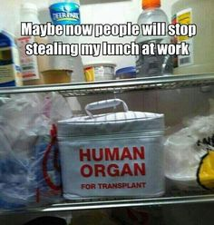 Now people will stop stealing my lunch #food #humor #officehumor