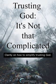 During the difficult trials, my trust muscle often seems weak. Sometimes, we make situations more complicated than they really are. One morning, I gained clarity on why it's not complicated to trust God more. #trustGod #faith #God Overcoming Depression, Overcoming Anxiety, Depression Quotes, Bible Verses About Fear, Psalm 25, Stages Of Grief, General Quotes, Asking For Forgiveness, Understanding Anxiety