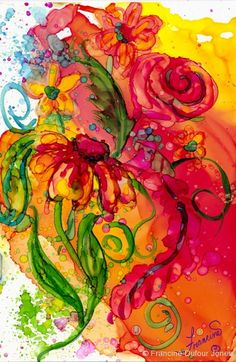 Francine Dufour Jones - Fiesta Flowers - couple of new artists for me today!!!
