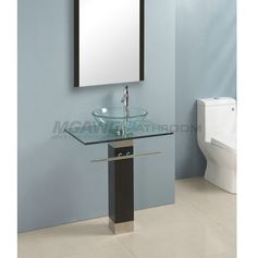 48 Best Glass Sink Vanity Images Glass Bathroom Bathrooms Glass