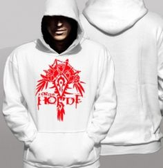 Cheap World of  Warcraft hoodie printed horde plus size mens clothing