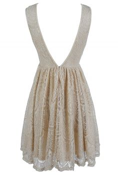 So it turns out, you can buy class.  Beige lace dress