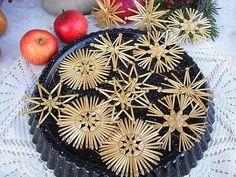 Vintage Weihnachtsdeko - vintage Christbaumschmuck Strohsterne shabby - ein Designerstück von artdecoundso bei DaWanda