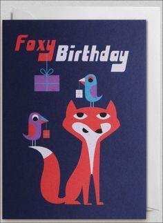 Greeting #card  #Foxy #Birthday by #Ingela P #Arrhenius from www.kidsdinge.com https://www.facebook.com/pages/kidsdingecom-Origineel-speelgoed-hebbedingen-voor-hippe-kids/160122710686387?ref=hl #kidsdinge