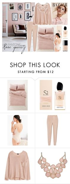 """""""Pantone 2016: Rosa Quarzo"""" by lisa-campolunghi on Polyvore featuring moda, Armani Beauty, Out From Under, TIBI, H&M, Chanel, women's clothing, women, female e woman"""