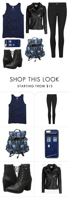 """""""Whovian"""" by harlequinbunny ❤ liked on Polyvore featuring Indigo Collection, CellPowerCases, Madden Girl, IRO, women's clothing, women's fashion, women, female, woman and misses"""
