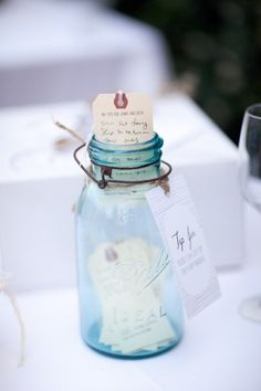 """""""TIP"""" Jar... Leave a lovely note for the bride and groom."""