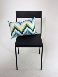 Schumacher+Adras+Ikat+Cushion+Cover+Martyn+Lawrence+Bullard, £15.00 Fresh blue green designer cushion zigzag chevrons