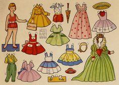Serie Azucena - Isabel Lopez - Álbumes web de Picasa Paper Puppets, Paper Toys, Cardboard Crafts, Paper Crafts, Vintage Playmates, Newspaper Paper, Bizarre, Vintage Paper Dolls, Free Graphics
