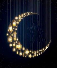 Reminded me of Ramadan Sun Moon Stars, Sun And Stars, Photo Trop Belle, Or Noir, Ramadan Decorations, Good Night Moon, Moon Magic, Beautiful Moon, Islamic Pictures