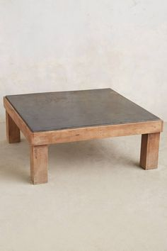 Slate Inset Coffee Table - anthropologie.com