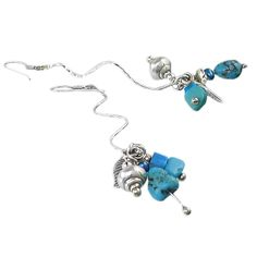 Indonesian Handicrafts | a simple Silver stream for these Earrings