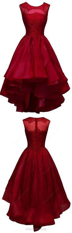 A-line Prom Dress, Scoop Neck Prom Dresses,Organza Prom Dress,Lace Prom Dresses,Asymmetrical Prom Dress,Sequins Prom Dresses,Burgundy Prom Dresses,Midi Prom Dress,Prom Dresses