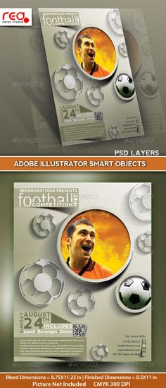Football Competition Flyer Poster & Magzine Cover