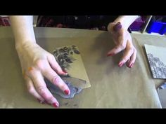 Dyan demonstrating how to do shadow stamping....cool technique.