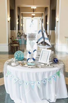 Ahoy It's A Boy Banner, Nautical Baby Shower, Boy Baby Shower, Lime and Blue,… Fiesta Baby Shower, Baby Shower Favors, Shower Party, Baby Shower Games, Baby Boy Shower, Nautical Theme Baby Shower, Sailor Theme Baby Shower, Pirate Baby Shower Ideas, Nautical Party Favors