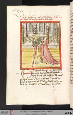 Cod. Pal. germ. 345 'Lohengrin' ; 'Friedrich von Schwaben' Stuttgart (?) - Werkstatt Ludwig Henfflin, um 1470     http://digi.ub.uni-heidelberg.de/diglit/cpg345