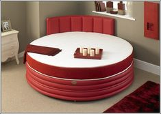Circle Shaped Bed The Controversial Round Beds A Bold Statement Or An Unpractical, Extraordinary Circle Shaped Bed Pictures Best Idea Home Design, Attractive Round Bed Design Featured In Minimalist Comfy Bedroom, Home Design, Bed Design, Luxury Rooms, Luxury Bedding, Old Tables, Round Beds, Cheap Bed Sheets, Loft, Beds For Sale