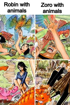 Robin and Zoro - perfect for each other <3 / One Piece