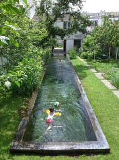 Agence GRUE - private garden with swimming pool # .- Agence GRUE – privater Garten mit Schwimmbad Agence GRUE – private garden with swimming pool … – garden design - Natural Swimming Pools, Swimming Pools Backyard, Swimming Pool Designs, Backyard Landscaping, Backyard Designs, Backyard Ideas, Backyard Ponds, Landscaping Ideas, Dog Backyard