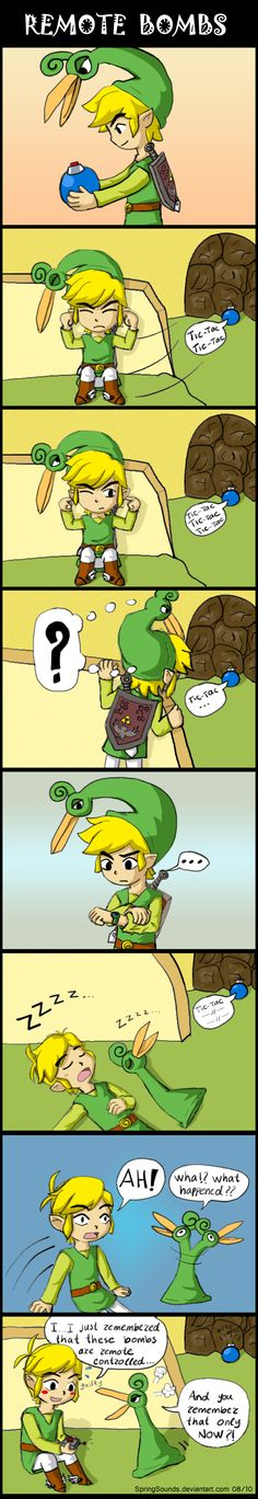 Minish Cap: Remote bombs by *SpringSounds on deviantART